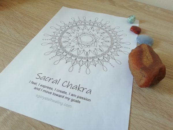 Sacral Chakra Mandala Coloring Page