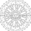 Throat Chakra Mandala Coloring Page Preview