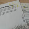 The Solar Plexus Chakra Mandala Guide Page