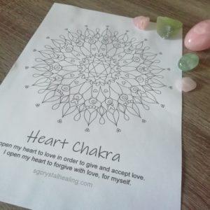 Heart Chakra Mandala Coloring Page