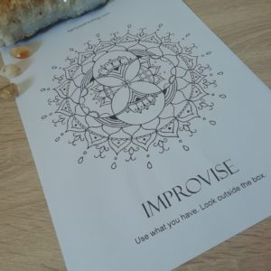 Oracle Mandala Coloring Page - Improvise