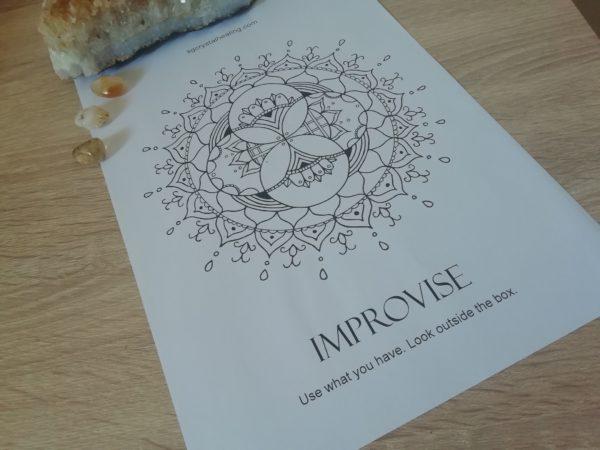Oracle Mandala Coloring Page - Improvise