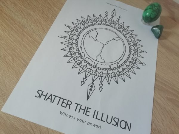 Oracle Mandala Coloring Page - Shatter the Illusion
