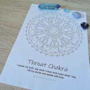 Throat Chakra Mandala Coloring Page