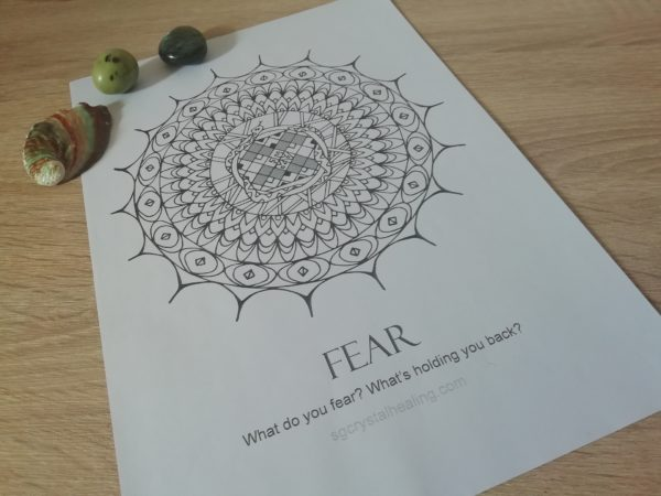 Oracle Mandala Coloring Page - Fear