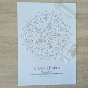 Crown Chakra Mandala Coloring Page