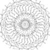 Oracle Mandala Coloring Page Ocean Flow - Close
