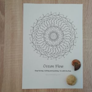 Oracle Mandala Coloring Page Ocean Flow