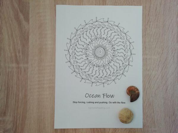 Oracle Mandala Coloring Page Ocean Flow