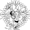 Oracle Mandala Coloring Page Just Be