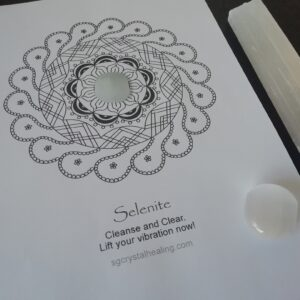 Crystal Mandala Coloring Page - Selenite
